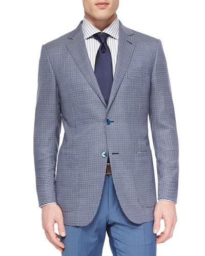 Woven Wool Check Blazer