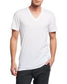 Pima Cotton V-Neck T-Shirt, White