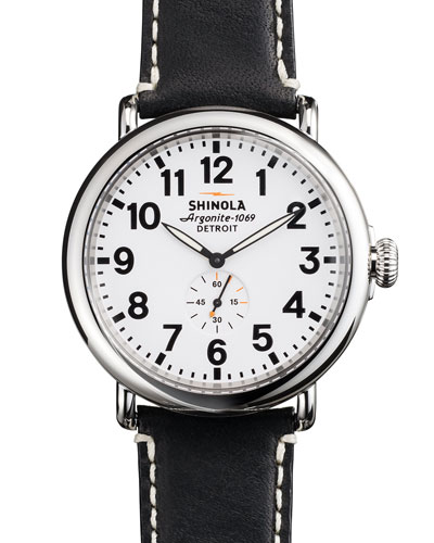 47mm Runwell Men's Watch, White/Black