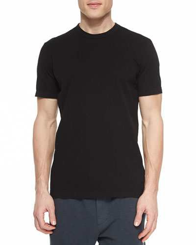 Crewneck Jersey T-Shirt, Black