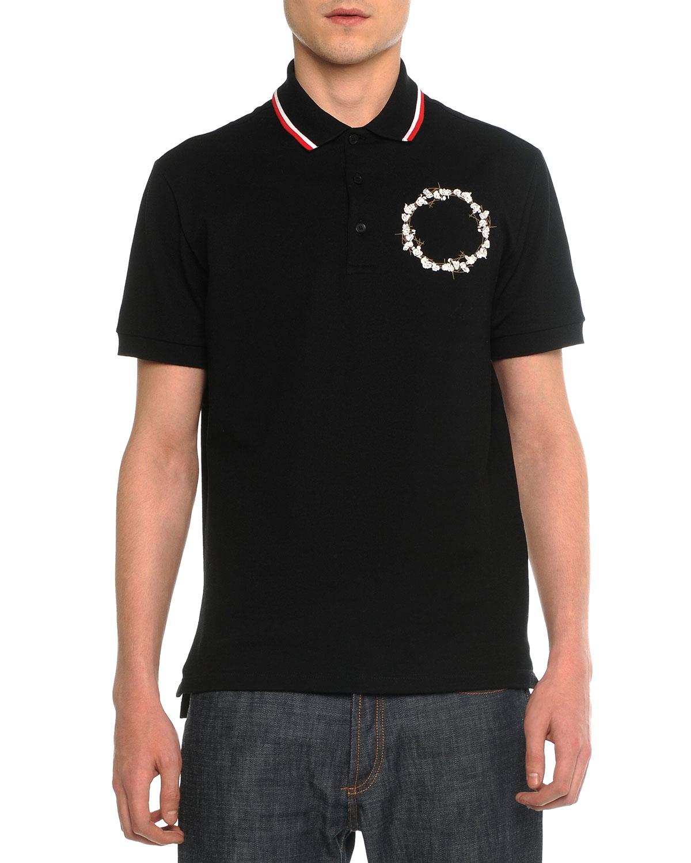 Cuban Short-Sleeve Polo, Black