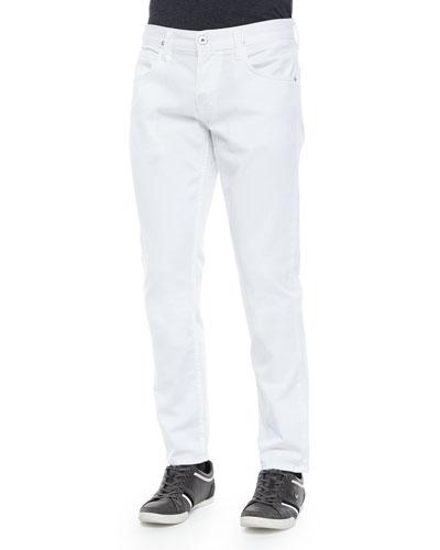 Blake Solid Denim Jeans, White
