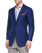 Cashmere-Silk Blazer, Royal Blue