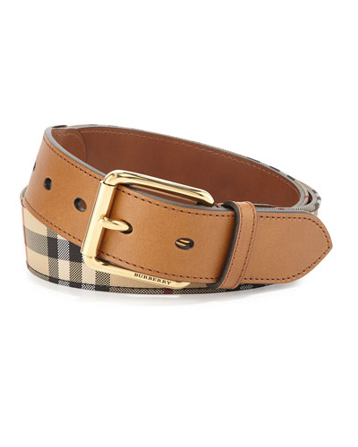 Mark Horseferry Buckle Belt, Tan