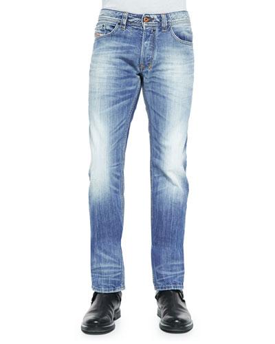 Safado 816P Faded Denim Jeans, Indigo
