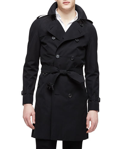The Wiltshire Long Heritage Trench Coat, Black