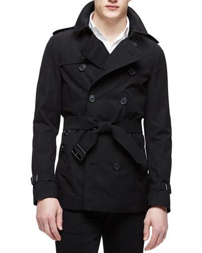 The Sandringham Short Trenchcoat, Black