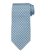 Butterfly-Print Silk Tie, Blue/Gray