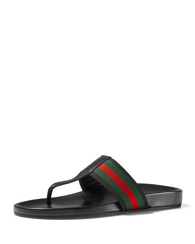 Web Strap Sandal, Black