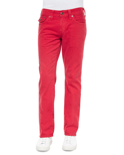 Ricky Slim-Fit Denim Jeans, Red