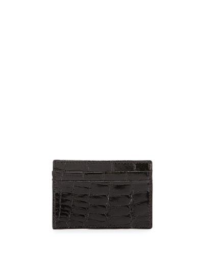 Alligator Card Case, Black