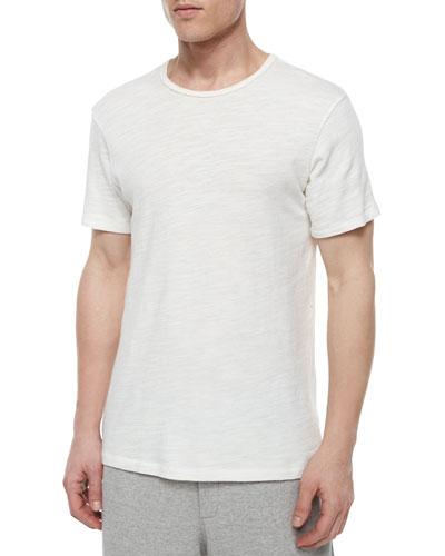 Basic Crewneck Short-Sleeve Tee, White