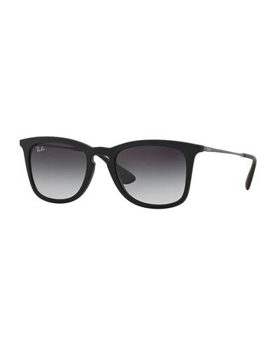 Wayfarer Plastic Sunglasses, Matte Black