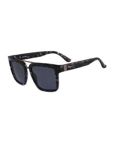 Gancio Plastic Sunglasses, Gray
