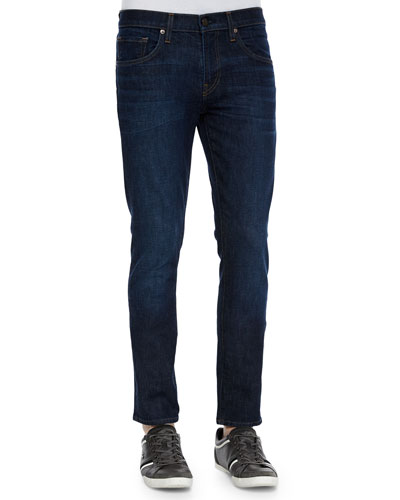 Mick Five-Pocket Dark Wash Jeans, Denim
