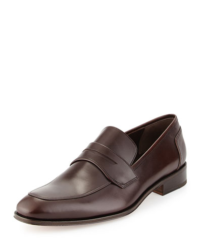 Lionel Calfskin Penny Loafer, Brown
