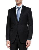 Solid Two-Piece Suit, Black