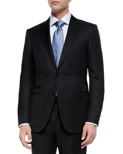 Solid Two-Piece Suit, Black