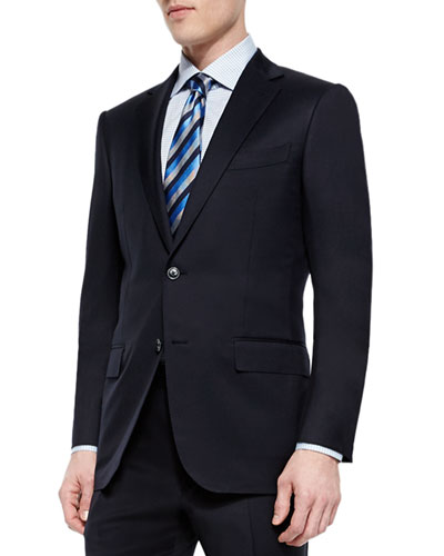 Solid Two-Piece Suit, Navy