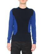 Bicolor Spliced Sweater