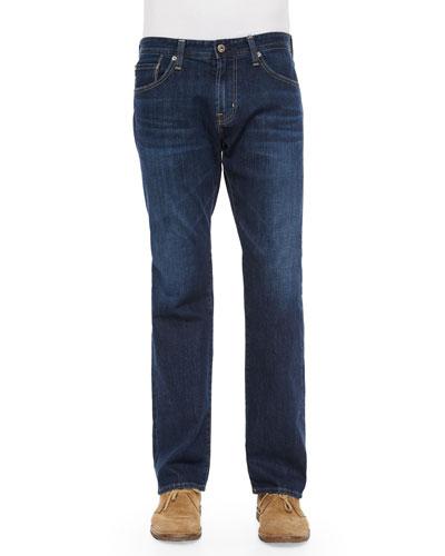 New Hero Straight-Leg Denim Jeans, Indigo
