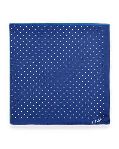 Four-Color Polka-Dot Pocket Square