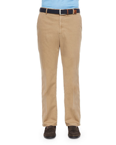 Raleigh Washed Twill Pants, Tan