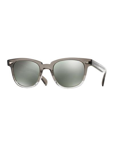 Masek 51 Mirrored Acetate Sunglasses,  Gray Fade