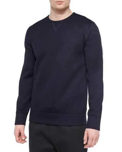 Ink-Sponge Fleece Sweater, Navy