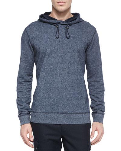 Long-Sleeve Pullover Hoodie, Navy