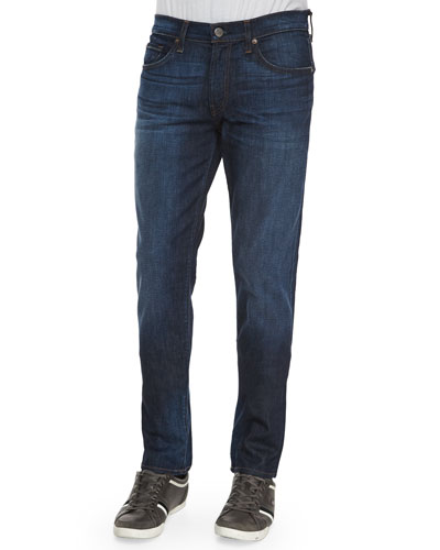 Men's Tyler Revelled Slim-Fit Denim Jeans, Indigo