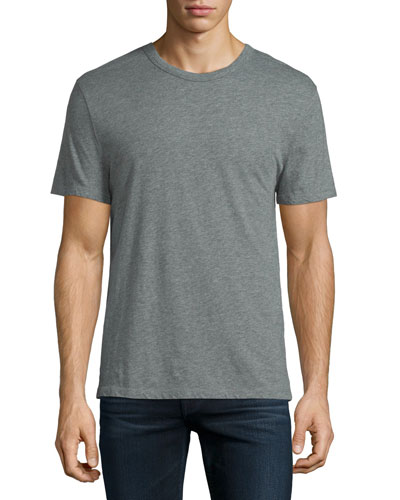 Classic Short-Sleeve Crewneck T-Shirt, Gray