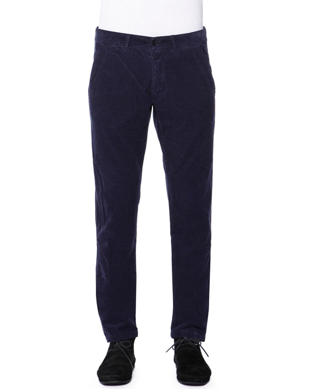 Soft Corduroy Pants, Navy