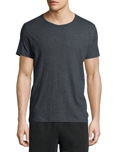 Classic Short-Sleeve Crewneck T-Shirt, Charcoal