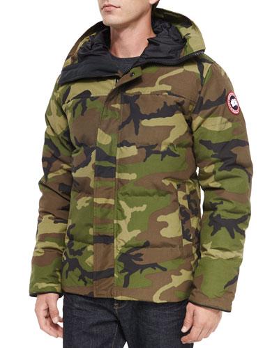 Macmillan Hooded Parka Coat, Camo Green