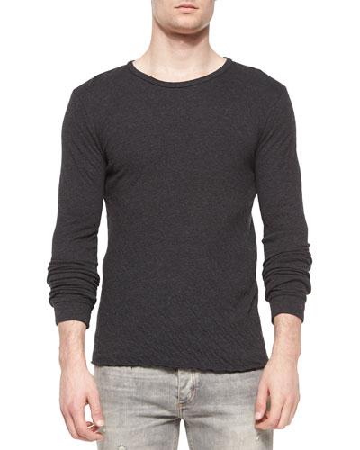 Cobra Long-Sleeve Knit T-Shirt, Dark Gray