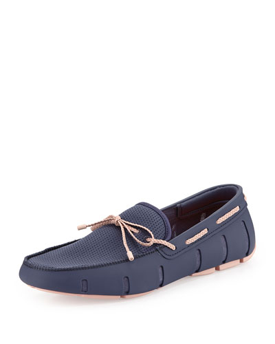 Bow-Tie Water-Resistant Loafer, Shadow Blue