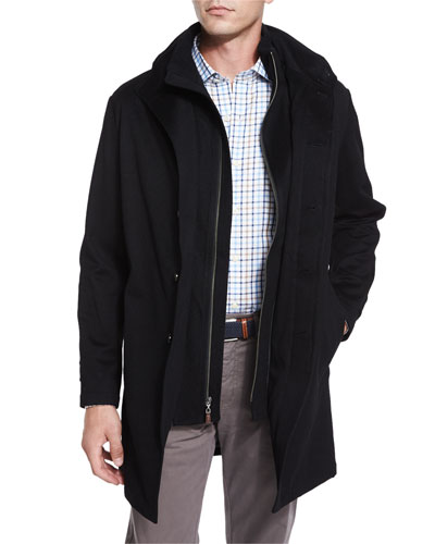 Sebastian Storm System Car Coat, Black