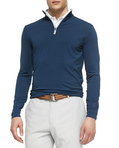 Perth Quarter-Zip Sweater, Navy