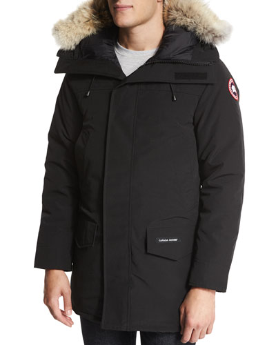 Langford Parka with Fur-Trimmed Hood, Black