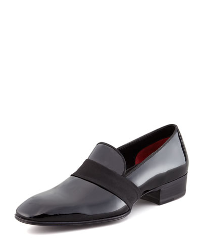 Grosgrain-Trim Patent Loafer