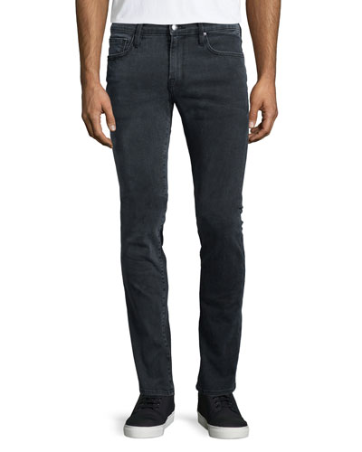 L'Homme Fade Skinny-Leg Jeans, Gray