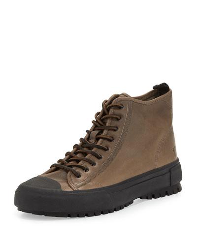 Men's Ryan Lugged-Sole High-Top Sneaker, Gray