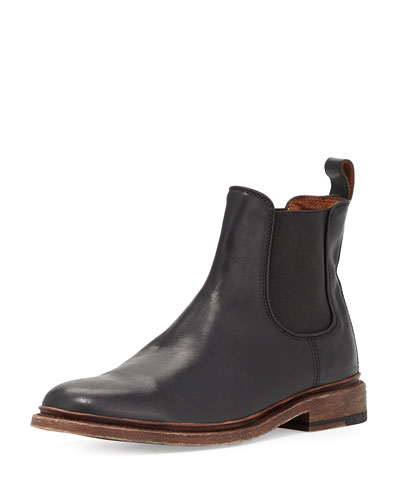 Men's James Leather Chelsea Boot, Black
