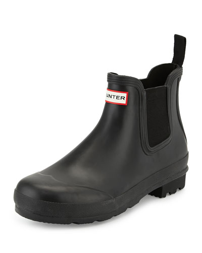 Dark-Sole Chelsea Boot, Black