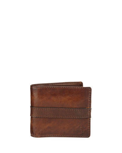 Oliver Leather Bi-Fold Wallet, Dark Brown