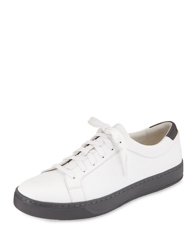 Aster Leather Low-Top Sneaker, White