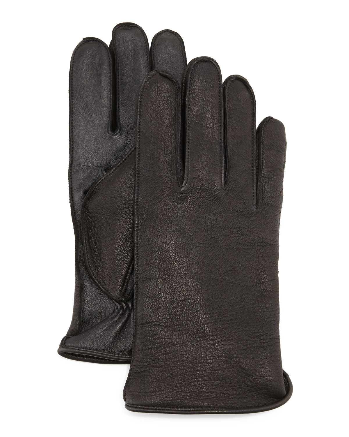 Whip Tech Leather Gloves, Black
