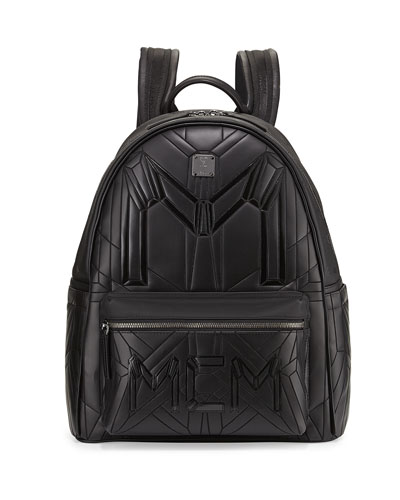 Bionic Coated Neoprene Medium Backpack, Black