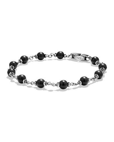 Rosary Beads Bracelet, Black